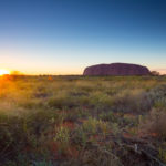 Australia outback landscape view in morning. ( North Territory)